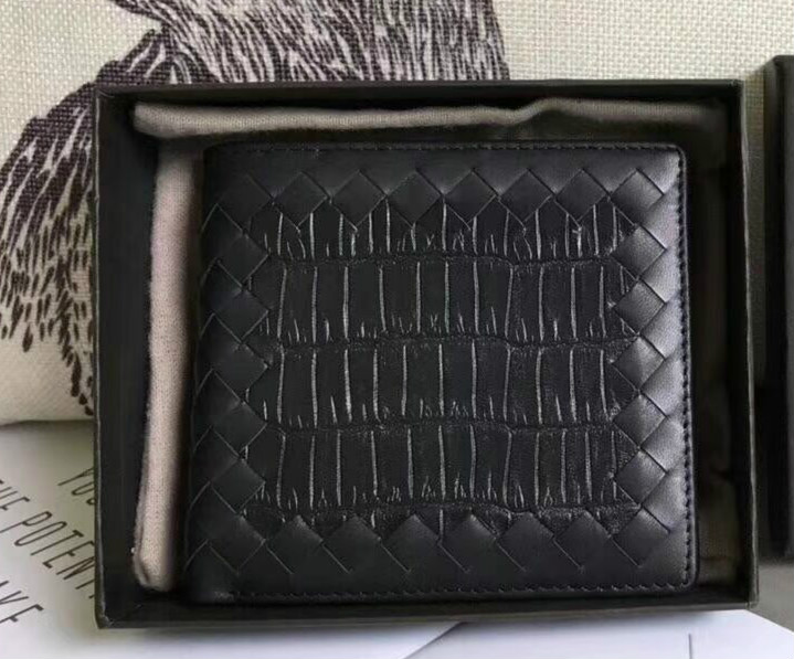 Chancelove Brand Crocodile pattern Men Wallets Cowhide Knitting Short Style Male Wallet Card Holder High Quality Men Purse brand unique design crocodile head pattern genuine leather men s wallets high quality by gmw007