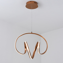 New Modern Led Pendant Lights Champagne gold Pendant Lamp Aluminum hanging lamp nordic lamp For bedroom Dining room kitchen modern aluminum iron metal pendant lights gold silver black white nordic designer plated ring pendant lamp for home room pll 769