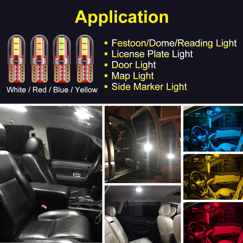 2 шт. 3535 светодиодный чипы супер яркий T10 светодиодный W5W WY5W 501 168 светодиодный автомобиль для чтения купольные огни авто маркер лампы тормоз с клиновым разжимом лампы