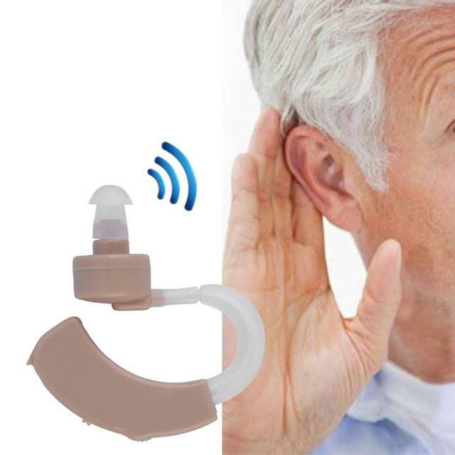 Hearing Amplifier Hearing Aids Sound Enhancer Sound Amplifier Behind the Ear Sound Amplifier Great Gift Adjustable Hearing Aids