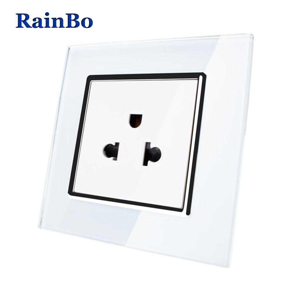 RainBo United States Standard Power Socket Crystal Glass