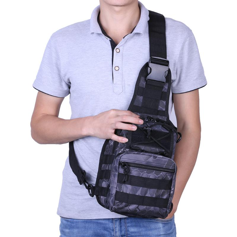 Outdoor Military Tactical Bag Multicolor Waterproof Unisex Travel Sling Bag Shoulder Crossbody Pack Camping Hiking Shoulder Bag outlife new style professional military tactical multifunction shovel outdoor camping survival folding spade tool equipment