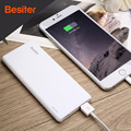 Besiter 5000 mah ultra delgado cargador de batería externo portable para los teléfonos inteligentes de carga del cargador universal banco de potencia super delgado