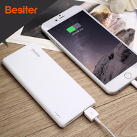 Besiter 5000mah Ultra Thin Portable External Battery Charger For Smart Phones Universal Power Bank Super Slim