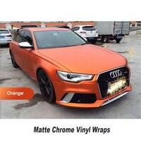 Matte Vinyl Orange Matte Chrome Ice Film Vinyl Wrap 5ft X 65ft Roll European Countries Shipping