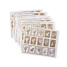150 Pcs/lot New High Quality Gold Color Stamp Shape DIY Multifunction Seal Sticker Gift Packaging Label Collectible Scrapbooking