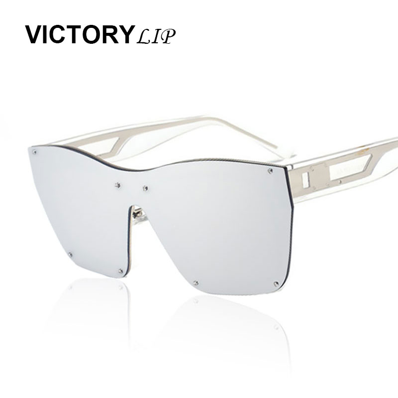 2ceff4c25a VictoryLip Oversized Rimless Men Women Brand Designer Large Frame Mirror  Sunglasses Male Shades UV400 Mirror Sun