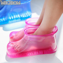 Winter Women Rubber Bathroom Boots shoes Flat Heel Wedge Platform Foot Bath Massage Beads Warm Ankle Moccasin Zapatos Mujer PJ1W
