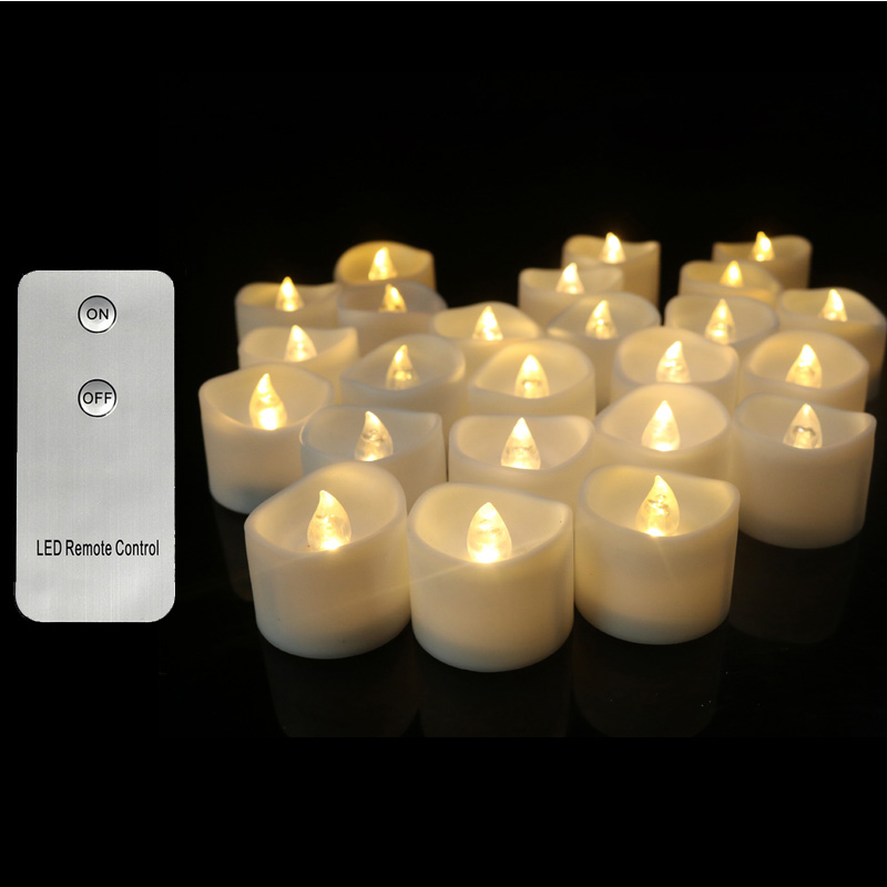 Pack of 3 Warm White Light Remote candele,Yellow Flickering velas perfumadas,Flameless Flickering candles home decoration-in Candles from Home & Garden