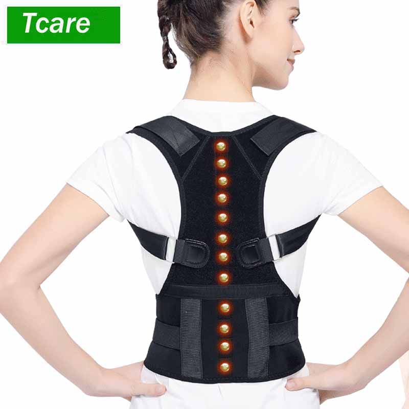 Magnetic Therapy Posture Corrector Clavicle Support Brace Best Shoulder Back Support Posture Support Improves Posture 2 pieces magnet posture back shoulder corrector support brace magnetic therapy belt therapy adjustable length free shipping