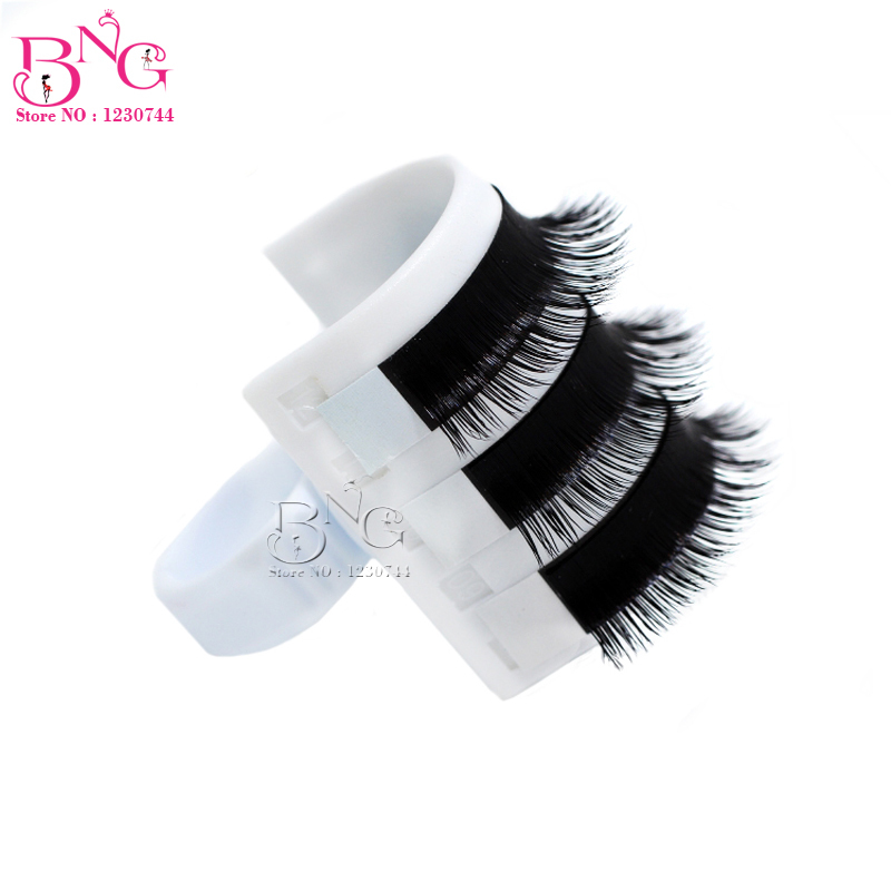 2pcs/lot New Eyelash Extension Tools Professional U-Shaped Lash Strip Pallet Ring Eyelash Stand Makeup Accessories Tools