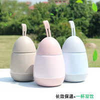 New Creative Cute Mug Insulation Cup Male Female Students Children Portable Water Cup Mini Stainless Steel