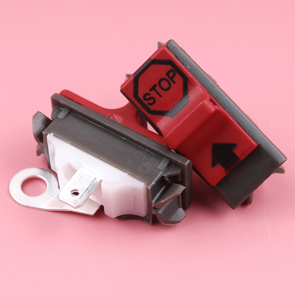2pcs On Off Stop Switch For Husqvarna 36 136 137 141 142 181 242 254 257 394 395 3120 Chainsaw Spare Parts
