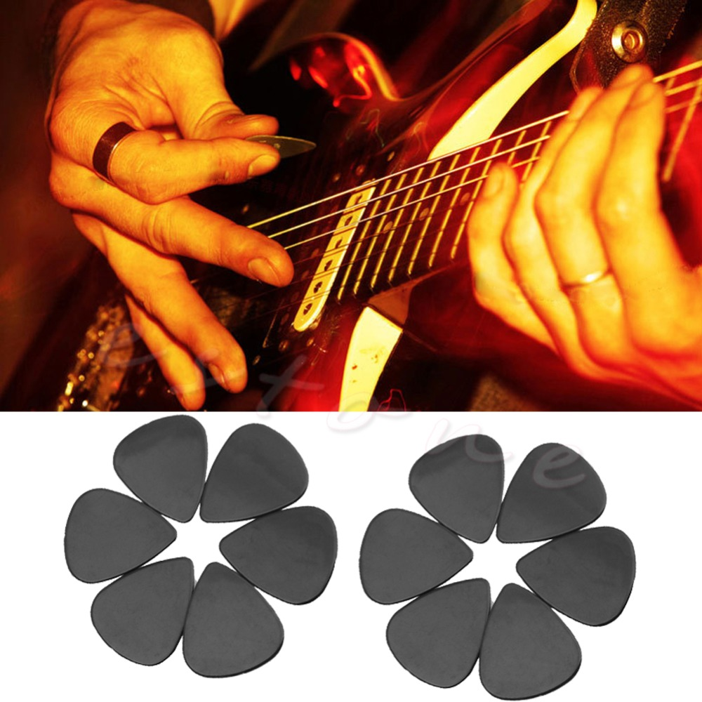 New Arrival 12Pcs Black ABS The Guitar Pick Size 0.71mm