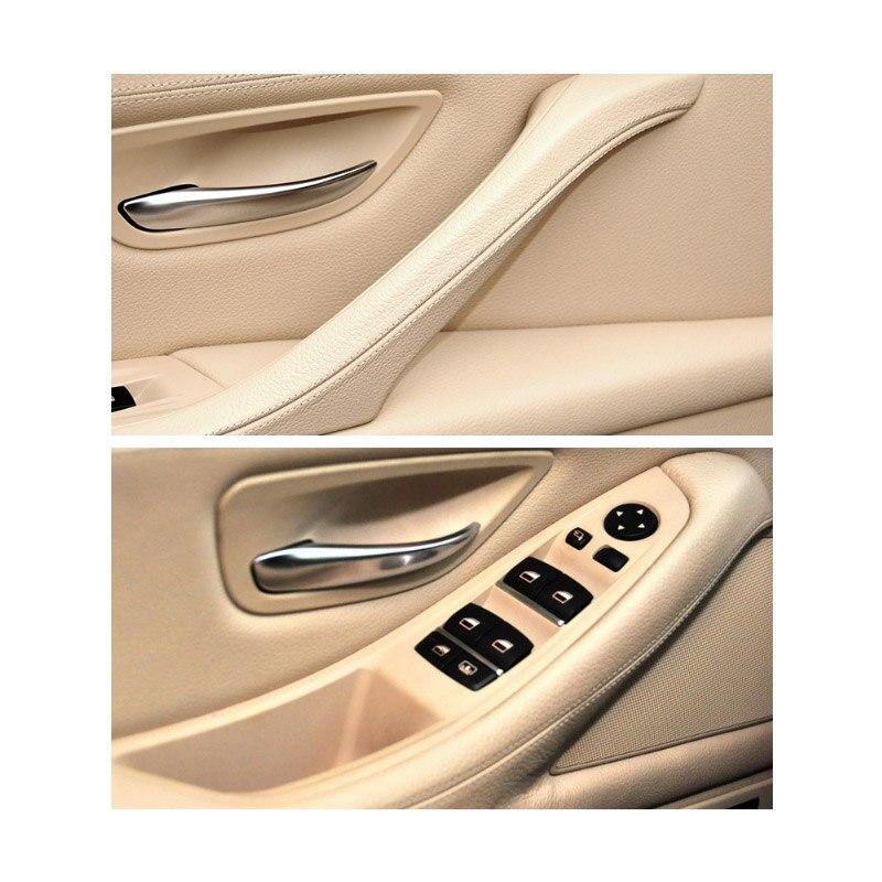 Image 5 - Left Hand Drive LHD For BMW 5 series F10 F11 Gray Beige Black Car Interior Inner Door Handle Panel Pull Trim Cover-in Interior Door Handles from Automobiles & Motorcycles