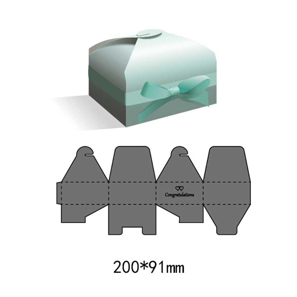 Metal New Box Die Cut Scrapbook Home Embellishment Paper Gift Making Handmade Kraft Stencils Stamp And Dies Set 200*91mm