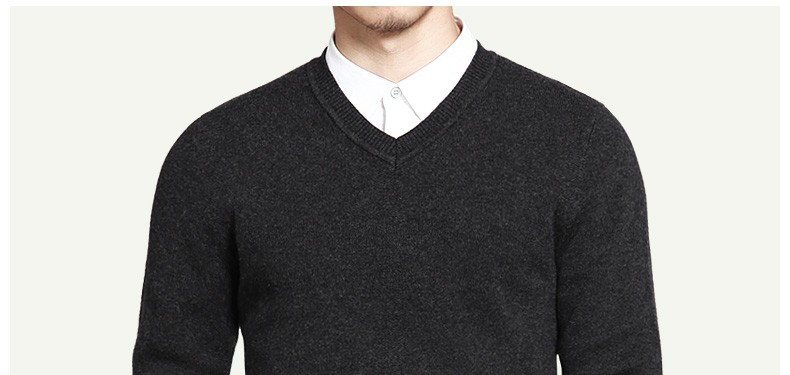 100% Wool sweaters men simple style V neck thick mens sweaters MULS brand jersey pullover autumn winter 4XL knitwear man MS16031