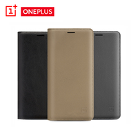 Original Flip Case For One Plus Oneplus 3 Three 3T With Hall Switch Card Insert Slot