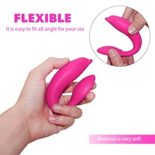 Silicone Dual Vibrator For Escalation