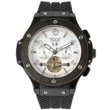 JARAGAR Tourbillon Automatic Mechanical Watch Men's Watch Belt Calendar Weekend Fashion Men's Watch