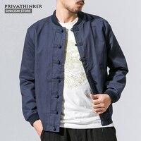 Sinicism Shop 5XL 100% Baumwolle Bomberjacke Männer Windjacke 2017 Herbst Männlichen Chinesischen Traditionellen Stil Jacke Mantel Größe Plus