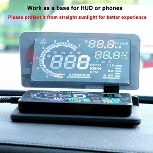 Image 2 - Cabeça up display gps navegação carro traço montar titular do telefone celular filme reflexivo, veículo hud smartphone suporte de montagem para iphone