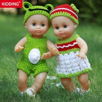 13 8inch Baby Doll Viynl Material With Clothes Can Blink Pronounce Voice Children S Christmas Gift