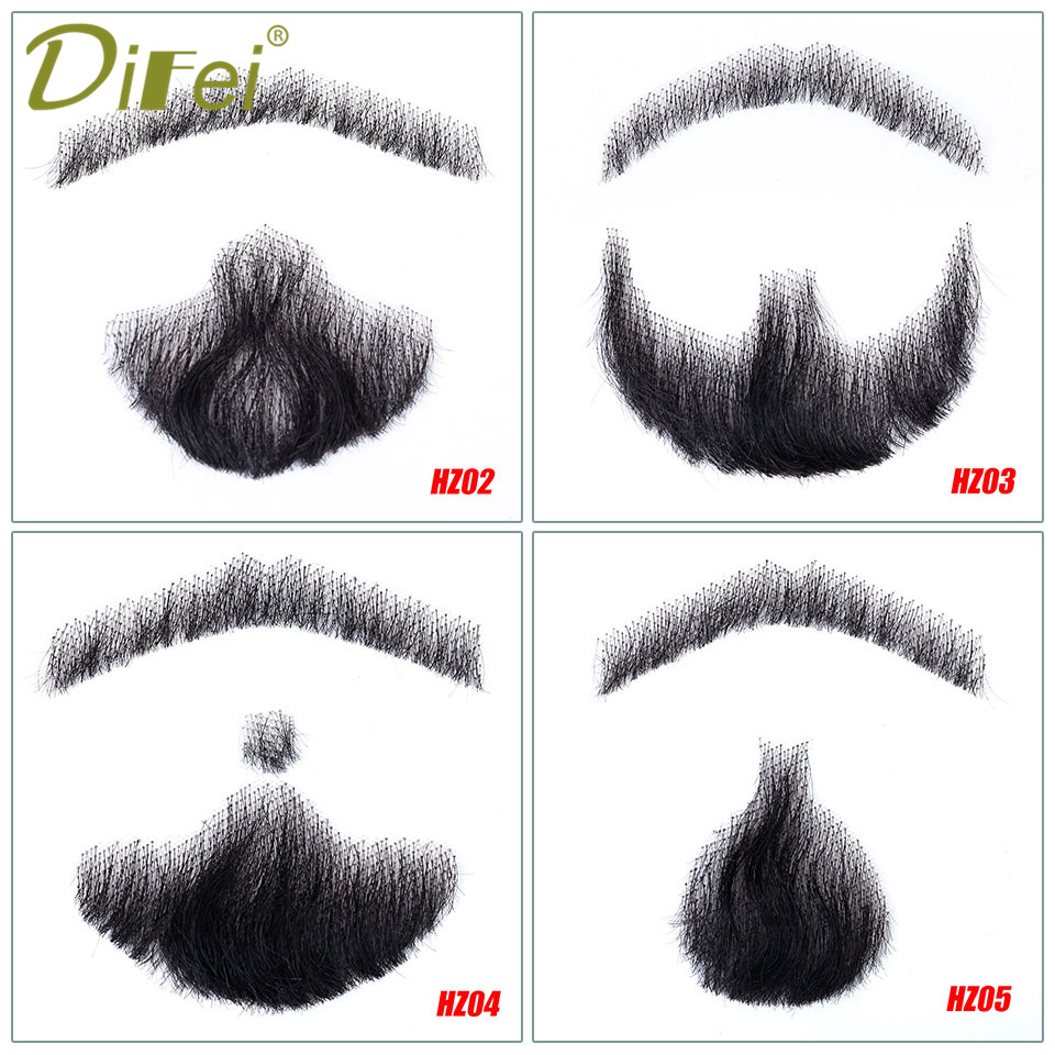 DIFEI Men's For Mustache Invisible Fake Weave Make-up Easy Props Simulation Beard