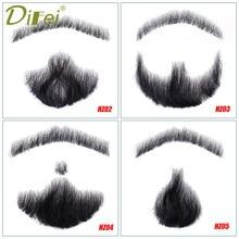 DIFEI męska sztuczna broda na wąsy sztuczna broda rekwizyty niewidoczne fałszywe splot wąsy makijaż łatwe rekwizyty symulacja broda
