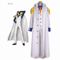 Ainclu Customize for adults New Adult One Piece Aokiji White Cosplay Costume One Piece Marines Cosplay For Halloween Christmas