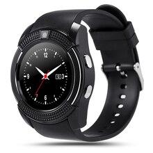 Original sportuhr vollbild smart watch v8 für android spiel smartphone unterstützung tf sim karte bluetooth smartwatch pk gt08
