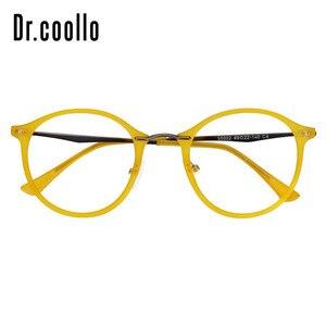 Image 2 - Fashion Designer Ultralight Yellow Round Circle Optical Sunglasses Eye Glasses Frame For Women Men
