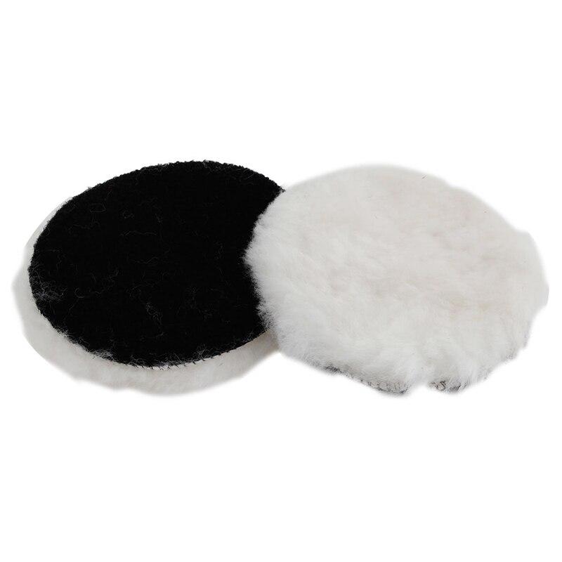 2 Pcs 125mm Dia Faux Wool Buffing Pad Car Detailing Polishing Buffer