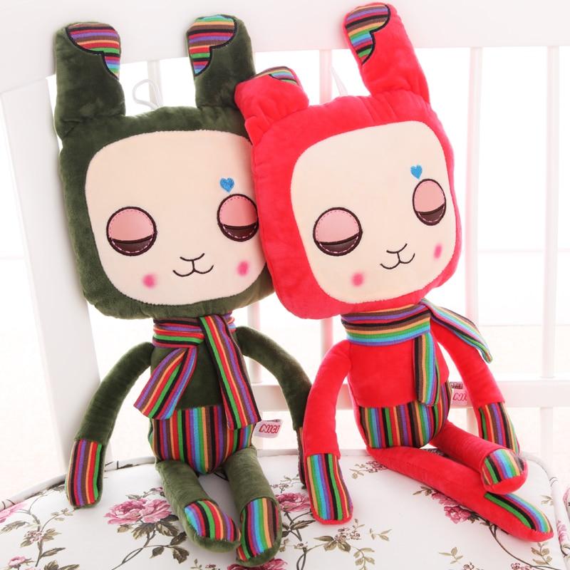 Кэндис Го! Новое поступление плюшевые игрушки Творческий красочные полосы Кролик Кукла Святого Валентина подарок на день рождения 60 см 1 шт.