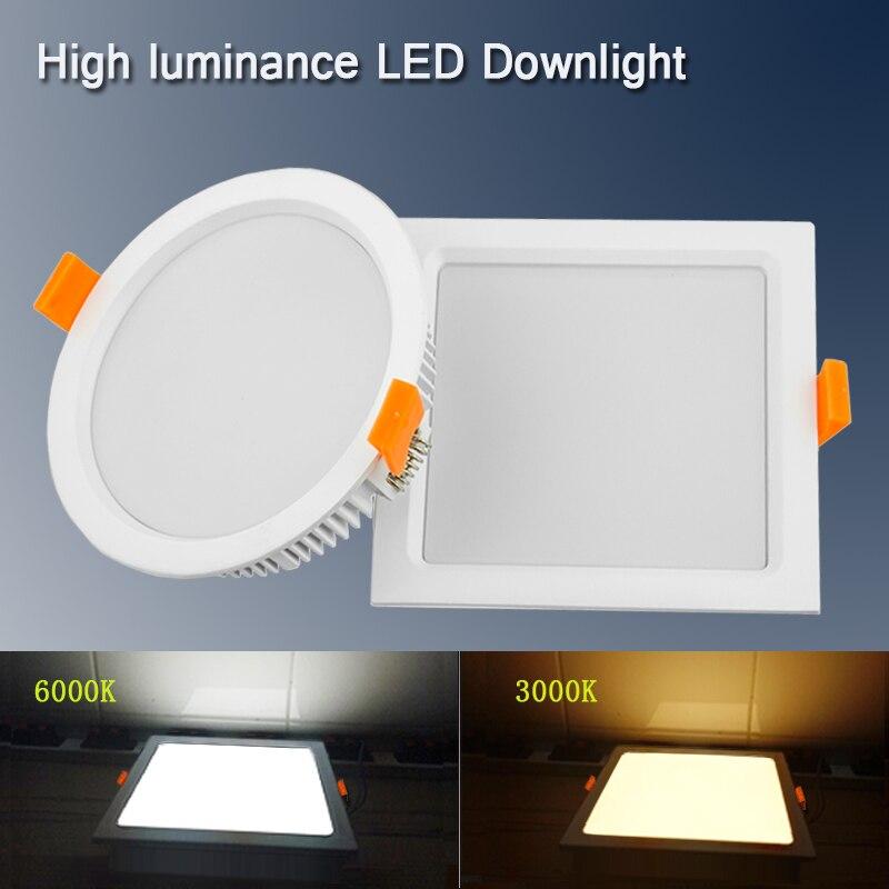 Led Flat Panel Light Ultra Thin Led Downlight Round Square