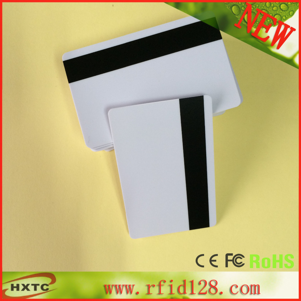 Free Shipping 50PCS/Lot Plastic/PVC 2750/3000/4000 OE Hi-Co Magnetic Stripe Blank Smart Card Printable By Card Printer 20pcs lot contact sle4428 chip gold card with magnetic stripe pvc blank smart card purchase card 1k memory free shipping