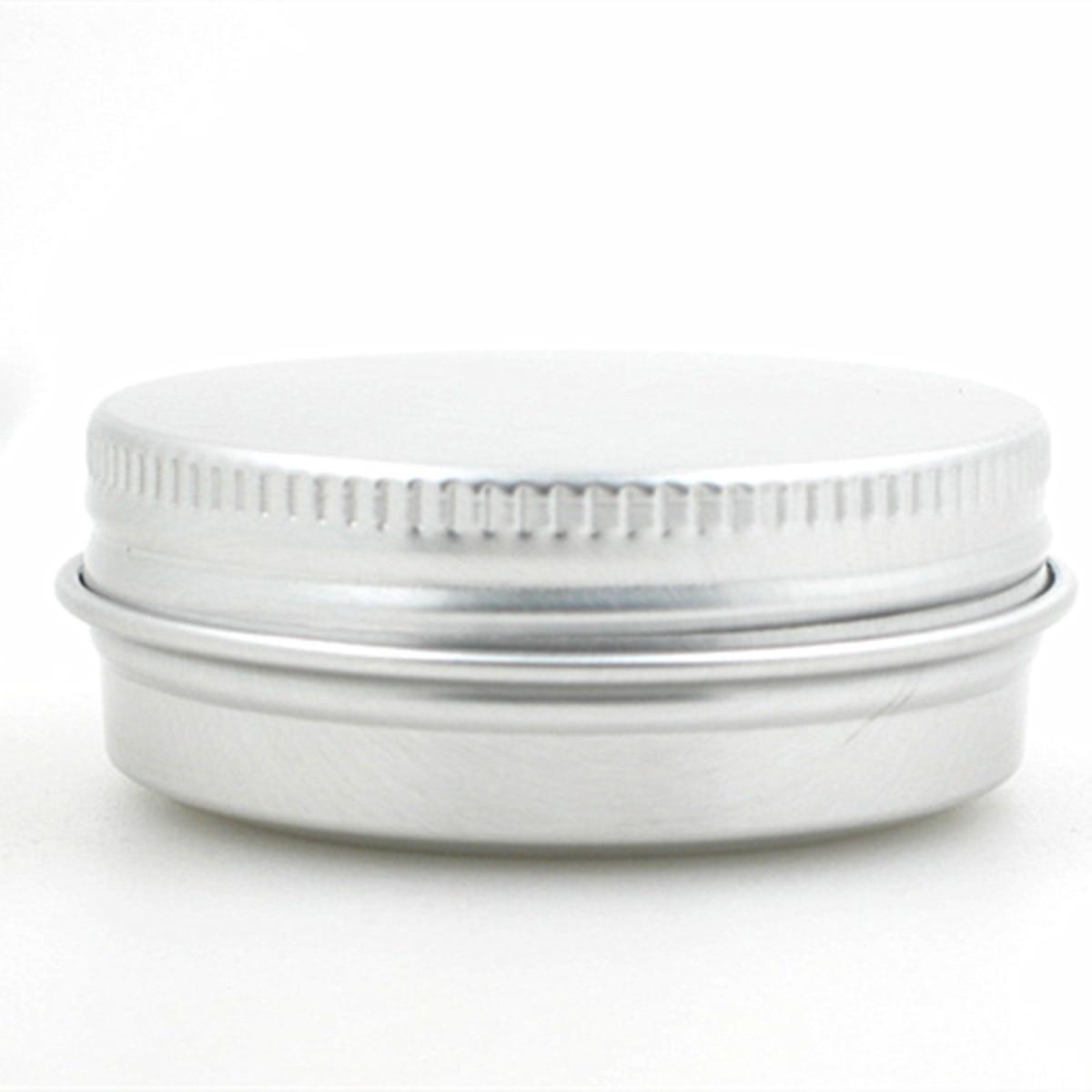 30 г/1 унций/30 мл алюминиевых банок/банок с винтовой резьбой, металлическая упаковка, контейнер - Цвет: sliver