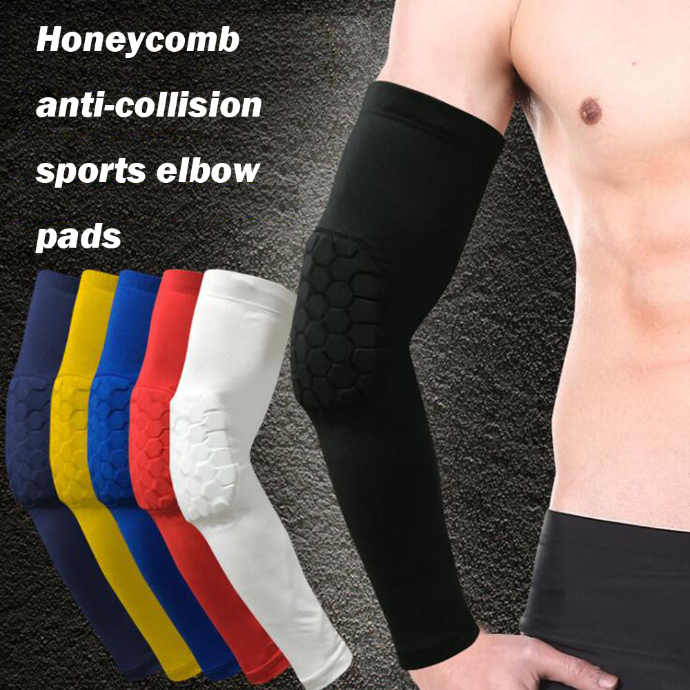 Sports Safety Sports Accessories 1pc Honeycomb Pad Elbow Support Protector Sports Compression Brace Arm Sleeve Wrap For Football Volleyball Baseball Protection Discounts Price