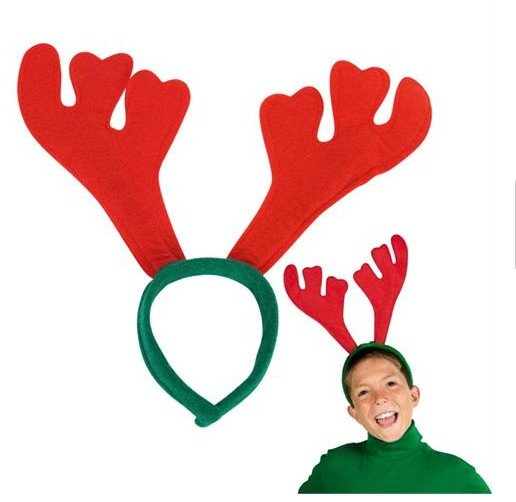 Free Shipping ,Reindeer antle Christmas headband hairband hat  suitable for children and adult