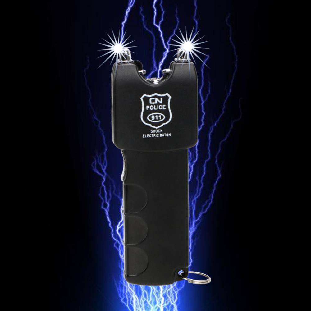 Prank Trick Toy Electric Shock Batons Stick Shocking Flashlight Shocker Electric Anti-stress Gadget Joke Novelty Funny Toy TSLM1(China)