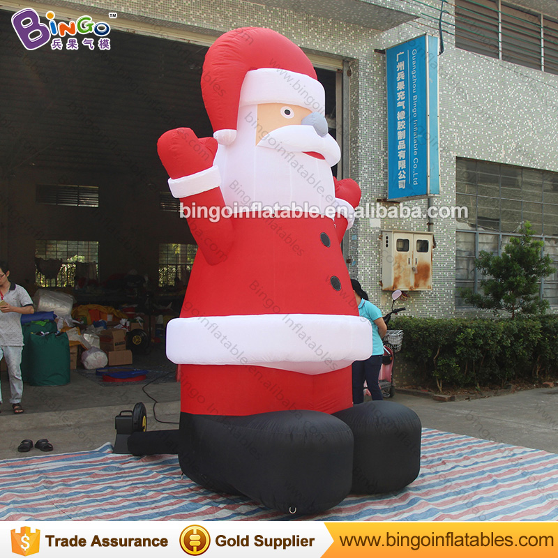 Free Delivery 3M high Giant Inflatable Santa Claus hot sale blow up old man with air blower For Chrismas Holiday toys