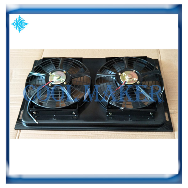 Auto air conditioner system condenser assembly radiator cooling fan unit