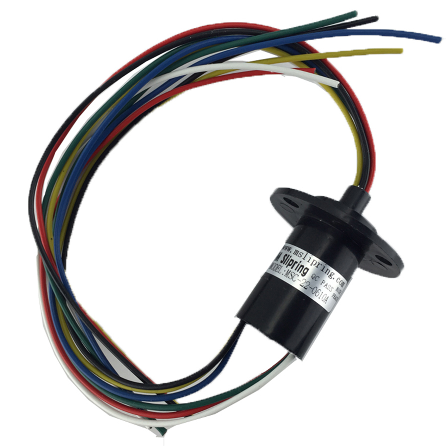1Pc Wind Generator Conductive Slip Ring 2-8 Wires 10A 250Rpm 220VDC/AC FOR Wind Turbine Diameter 22MM 5pcs 2 wires circuits 30a 22mm wind generator slip ring wind turbine slip ring rotating connector capsule slip ring