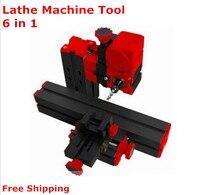 On sale!!DIY Mini Lathe Machine 6 in 1, DIY Mini Micro Lathe Machine Tool 6 in 1, For Wood and Soft Metal