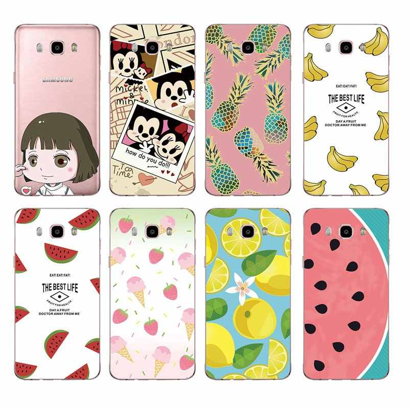 Soft TPU Phone Case Fruits lemon Banana pineapple Mickey For Samsung A3 A5 J3 J5 J7 J1 J2 S6 S7 S8 S8plus note8 c5 c7 c9 S9 C241