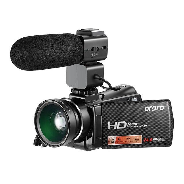 Special Price HDV-V7 Plus Full HD 1080P Digital Camera 3.0 inch Screen IR Night Vision Professional Camcorder Remote Control Video Cameras