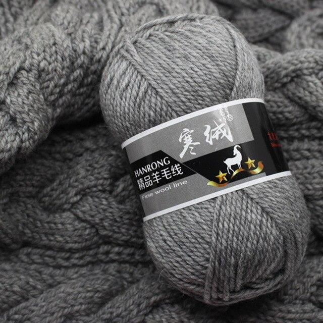 למעלה איכות 5pcs = 500g 60 צבע צמר מרינו סרוג סרוגה סריגה חוט סוודר צעיף סוודר הגנת סביבה
