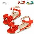 Koovan promoción del año nuevo 2017 de los niños sandalias de verano del bebé shoes girls suave zapato de princesa bow peep toes sandalias ky5590
