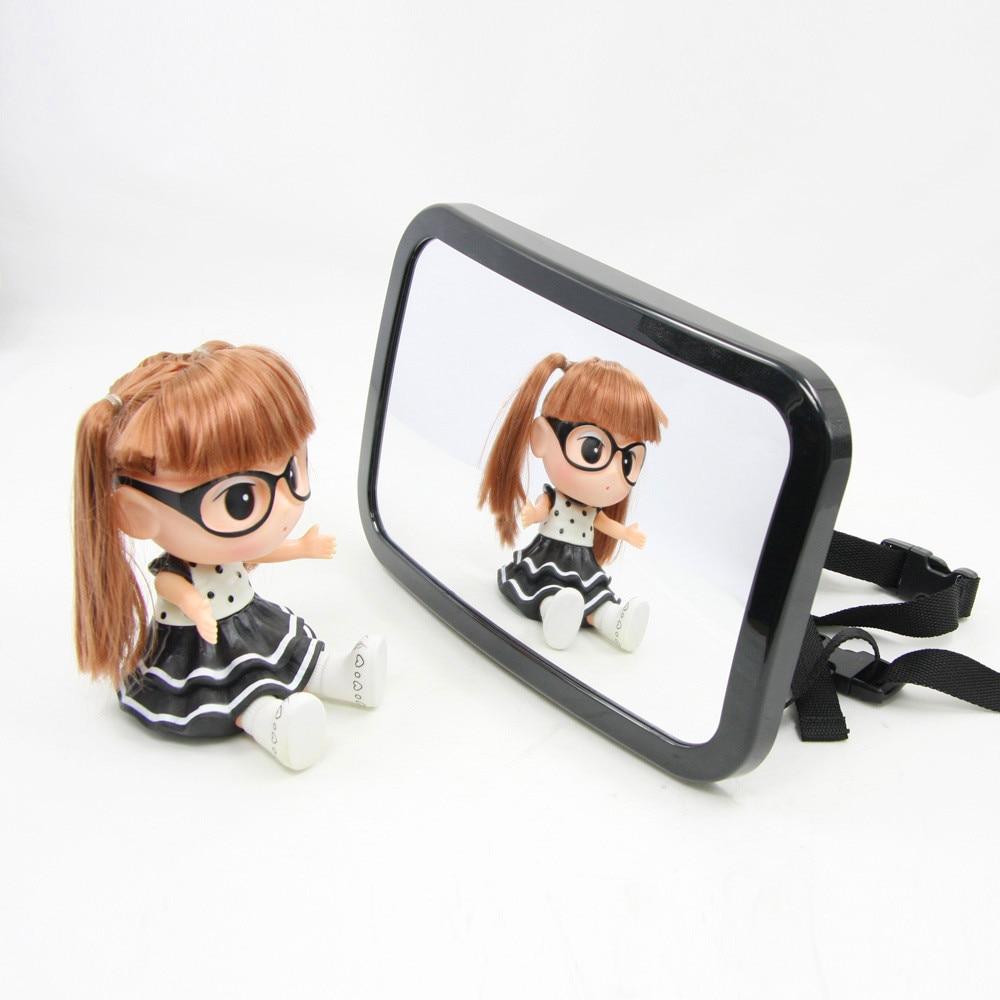 New Car Adjustable Back Seat Mirror Rear View Headrest Mount Baby Safety Mirror Interior ...