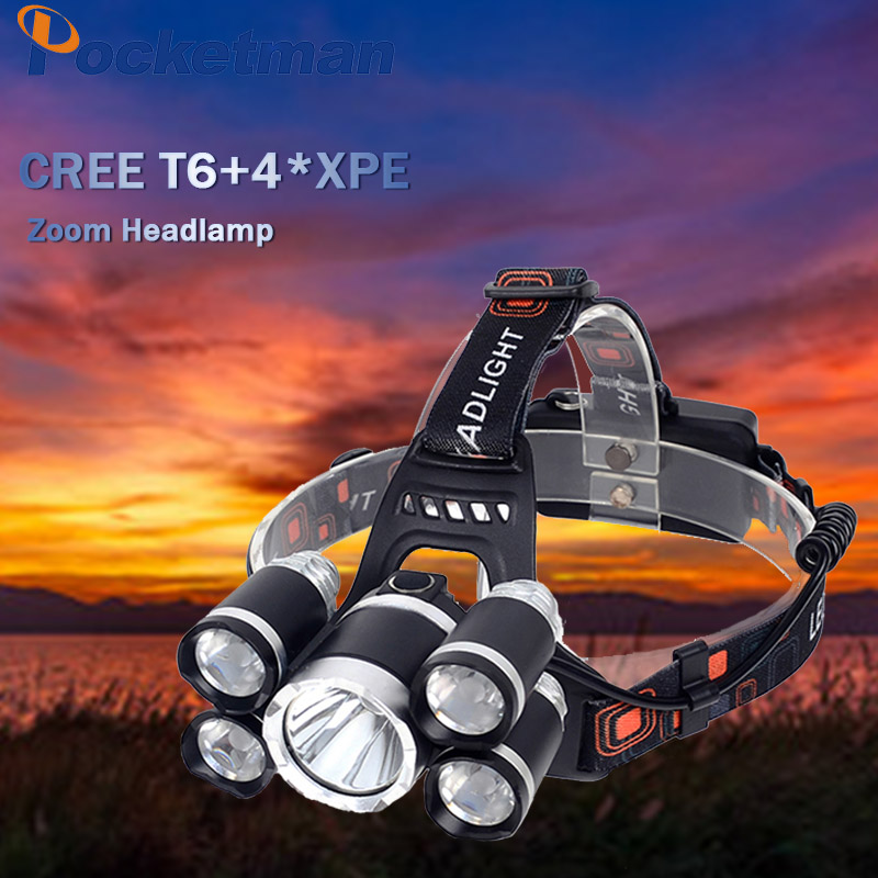 18650 Headlight Led Headlamp XM-L T6 Zoom Rechargeable light Waterproof  16000LM Head Lamp Light +2x 3.7v 18650 Battery + Charger cabb316047